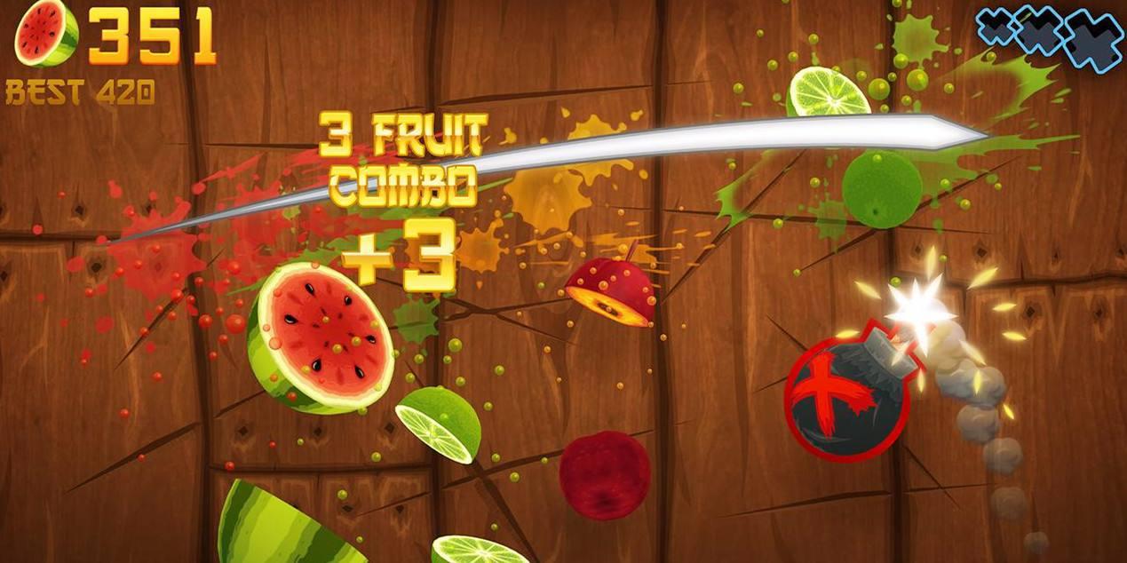 好玩的游戏推荐:《水果忍者》