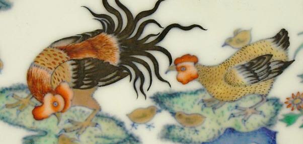 """明清官窑瓷器中的""""鸡""""文化"""