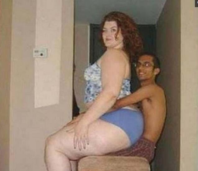 妻子大腿比丈夫腰粗,在家丈夫对妻子言听计从!