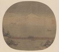 北京故宫博物院藏宋人《长桥卧波图》扇面赏析