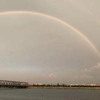 雨后襄阳,美丽彩虹!