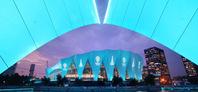 上海东方体育中心为篮球世界杯亮灯