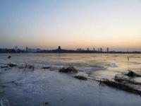 东营自然之美清风湖之日出